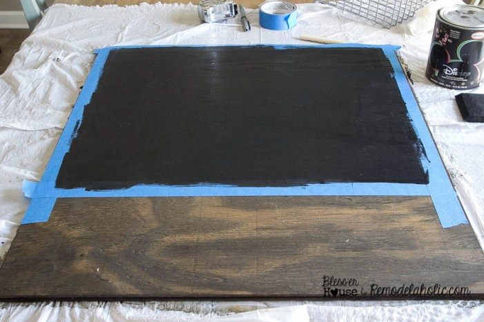 Painted Chalkboard + DIY Locker Basket Mail Organizer