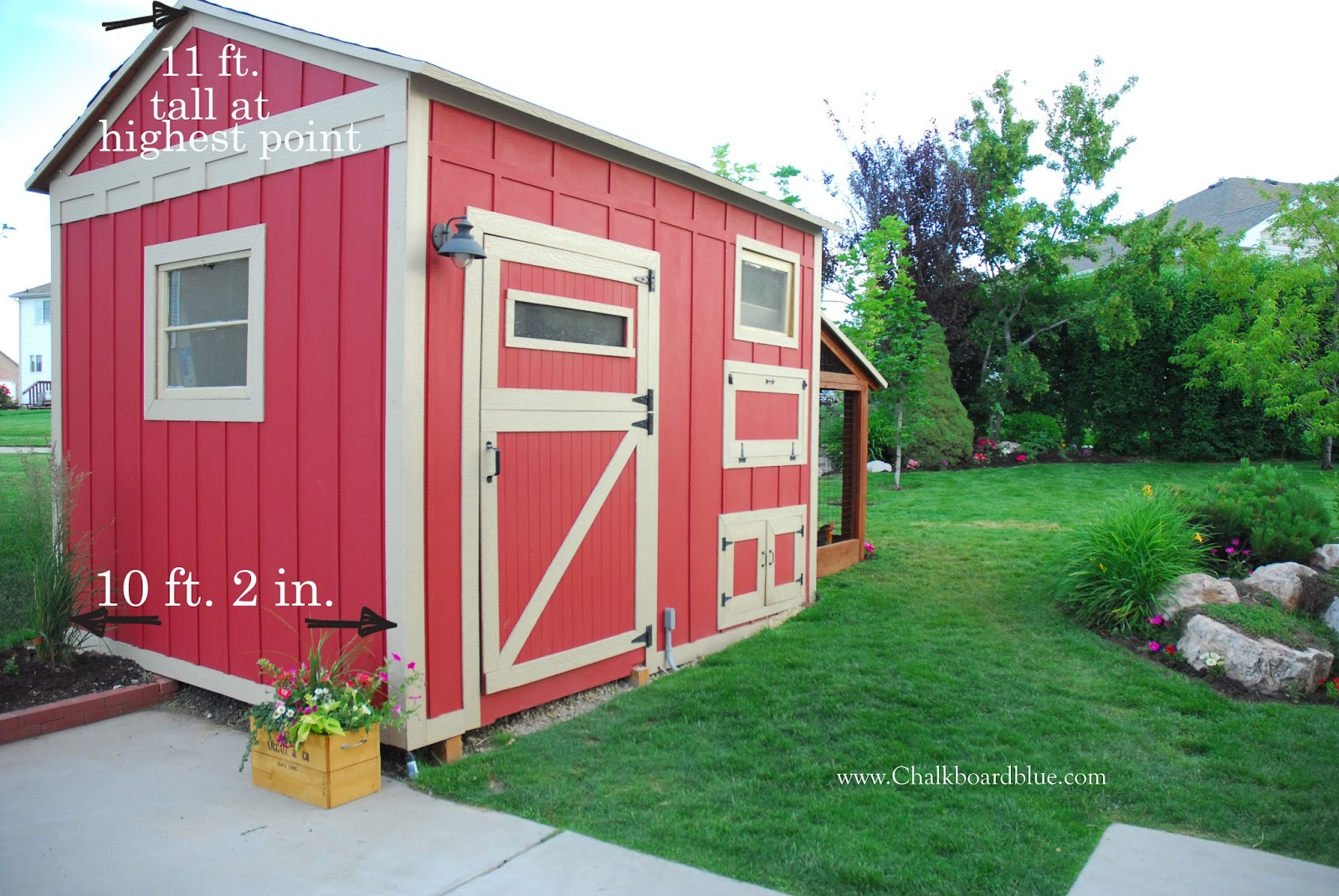 Remodelaholic | Cute DIY Chicken Coop with Attached Storage Shed