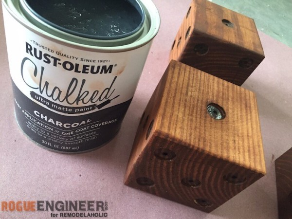 DIY Yard Dice - Painting