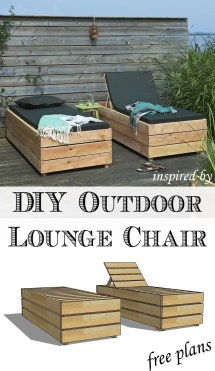 Diy Reclining Outdoor Lounge Chair With