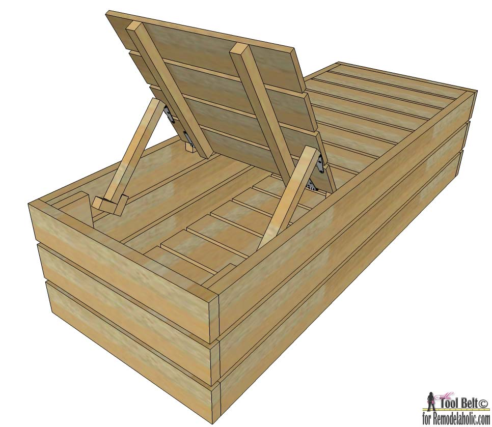 - Remodelaholic Outdoor DIY Lounge Chair With Storage
