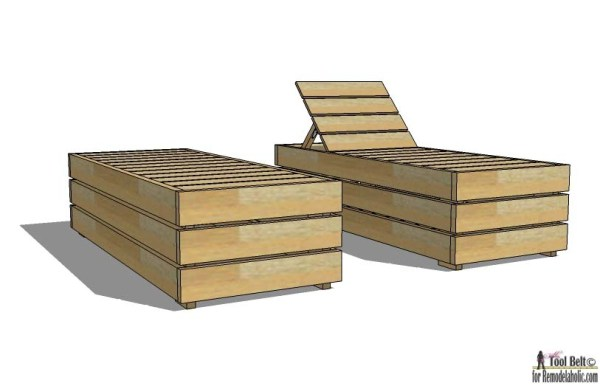 Best DIY Outdoor Wood Projects: Reclining Outdoor Lounge Chair/Daybed with Storage, Woodworking Plans