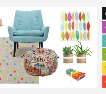A Rainbow Playroom – Getting creative with colorful decor.