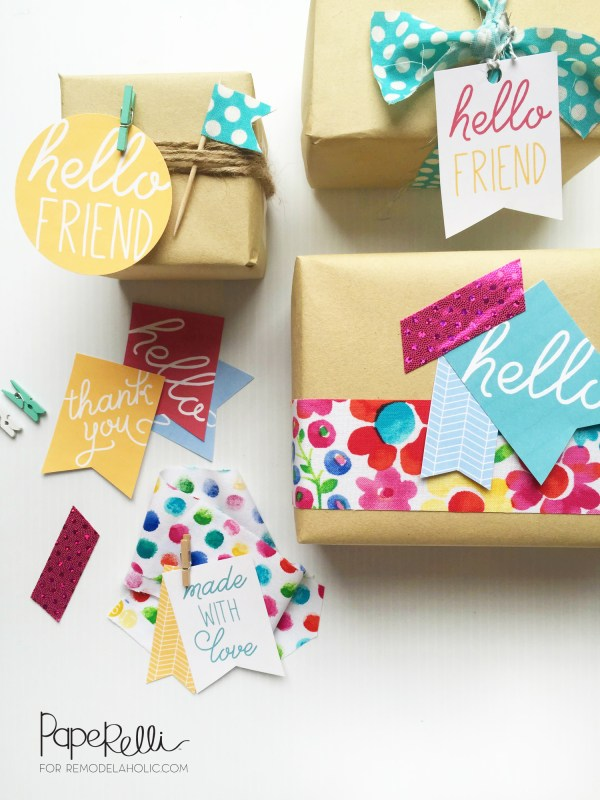 "Cute and easy gift tags - free printable! Perfect for those ""just because"" kind of gifts for bad days or simple thank you gifts"