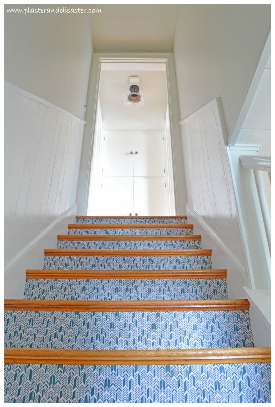 Updated Stairwell by Plaster and Disaster featured on @Remodelaholic