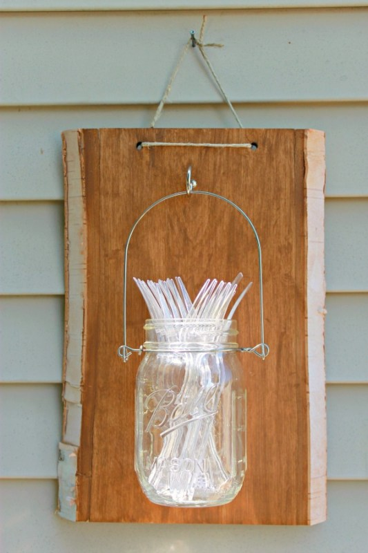Mason Jar Hanger - use as a vase, utensil holder, or lantern, so easy and under $20!