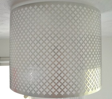 Decorative Punched Metal Ceiling Light Shade