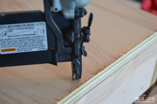 Building an indoor swing for kids, nail top on
