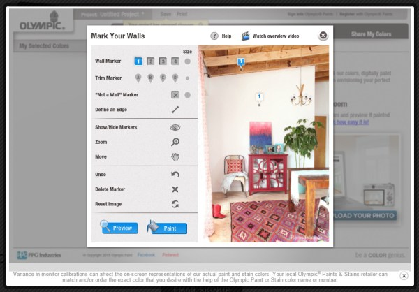 7 free online tools to test paint color before you buy - Olympic Paint Color Visualizer