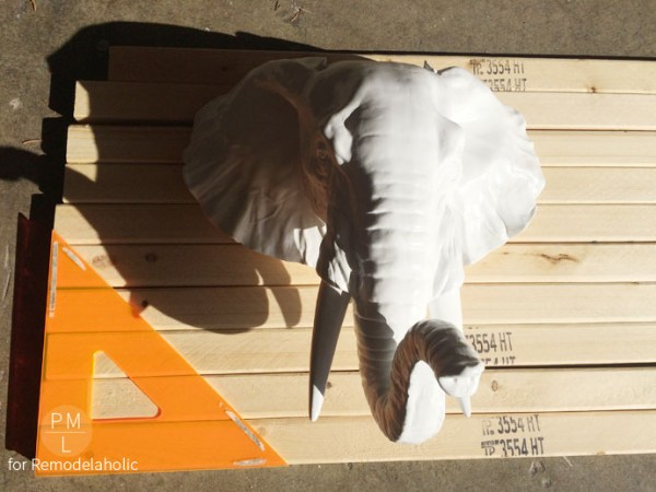 DIY Animal Head Plaque