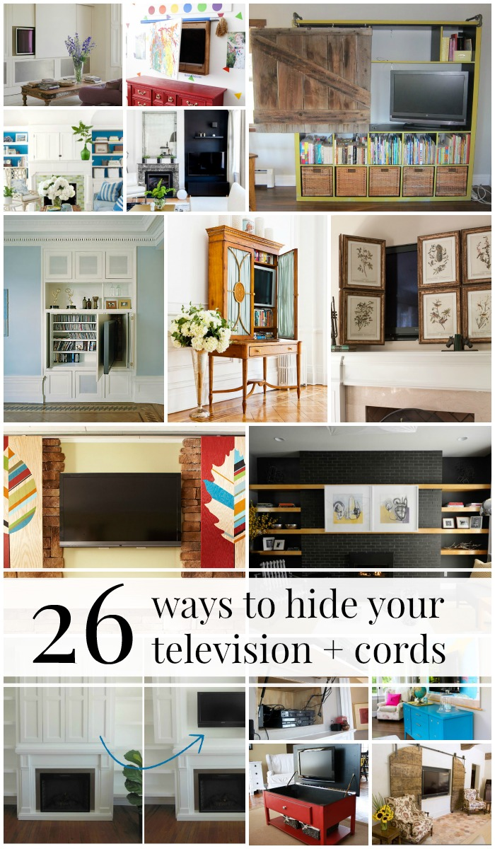 ideas to decorate living room cheap ashley furniture prices rooms remodelaholic | 95 ways hide or around the tv ...