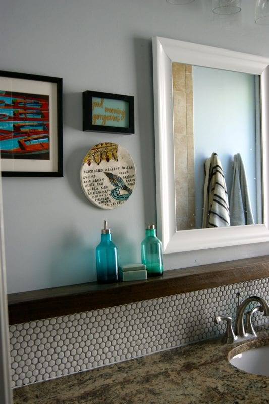 Remodelaholic  Tips for Installing a Penny Tile