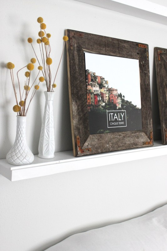 DIY Rustic Industrial Picture Frame by The Winthrop Chronicles featured by Remodelaholic