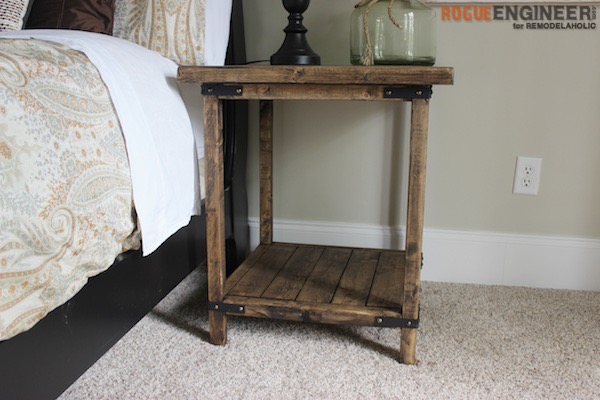 Rustic Square Bedside Table Building Tutorial