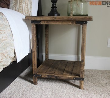 Diy Simple Square Bedside Table Plans Rogue Engineer