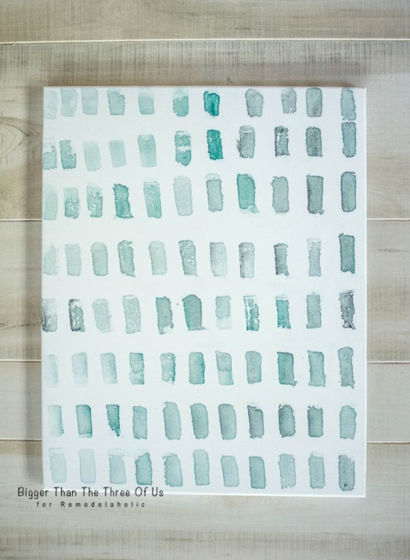 How to Make Your Own Brushstroke Art by Bigger Than The Three Of Us for Remodelaholic