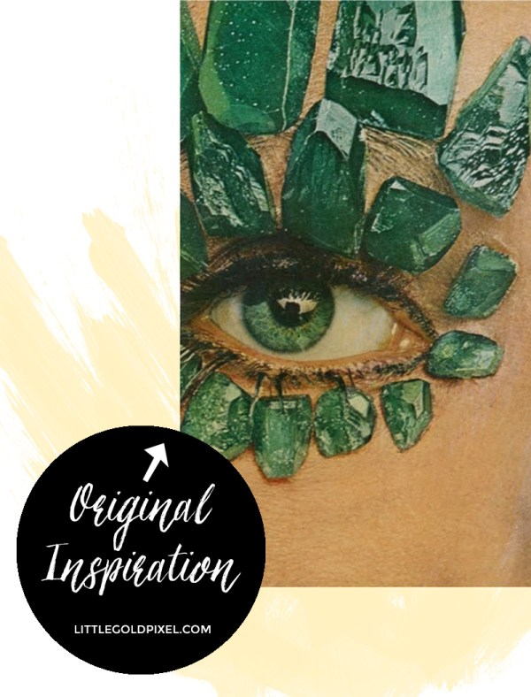 Original Inspiraiton for Kaleidoscope Eyes Printable by Little Gold Pixel featured on Remodelaholic