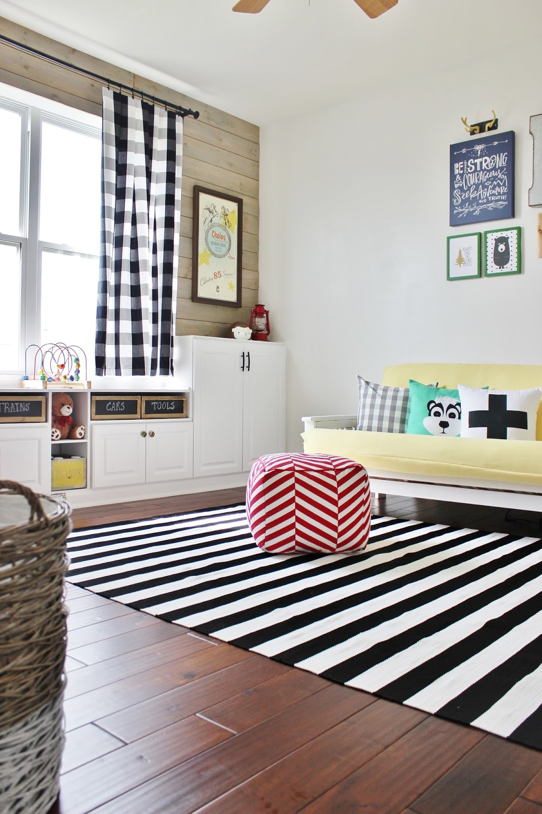 Remodelaholic   Playroom Makeover with Built-In Cabinets for Storage