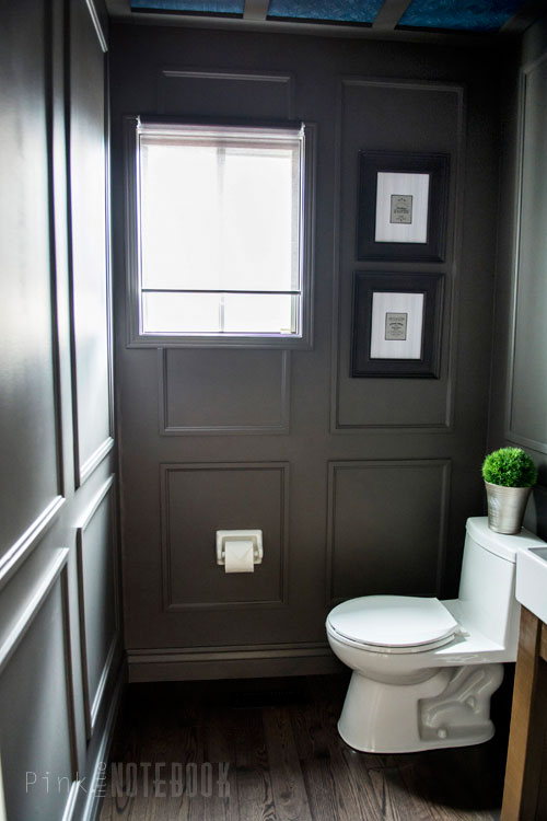 Powder Room Makeover with an Open Vanity Tutorial
