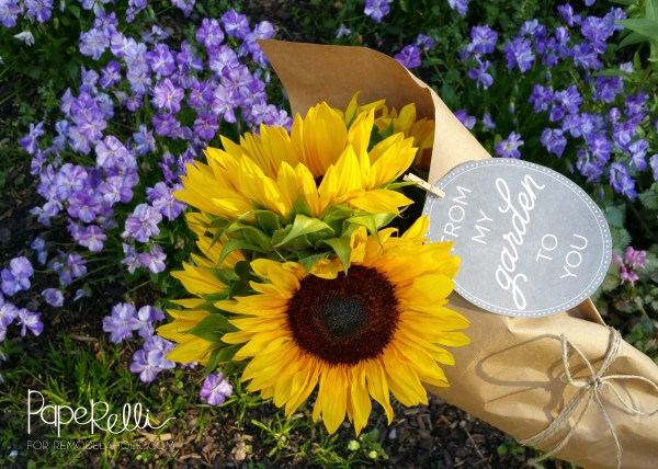 Printable Garden Gift Tags - Great for delivering fresh cut flowers or surplus vegetables to your neighbors!