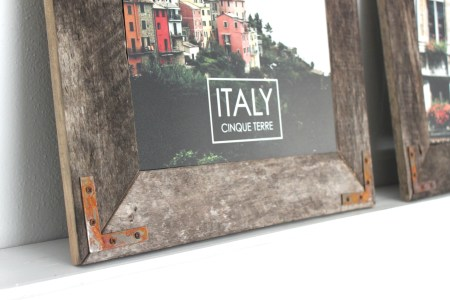Rustic Industrial Picture Frame Tutorial by The Winthrop Chronicles featured by Remodelaholic