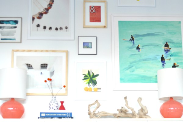 Tips for Using White Space on a Modern Gallery Wall by House Updated featured on Remodelaholic