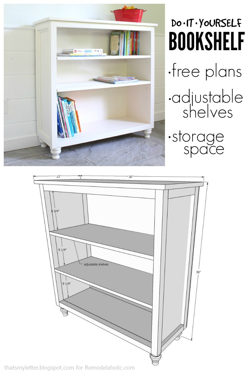 Remodelaholic Build A Bookshelf With Adjustable Shelves