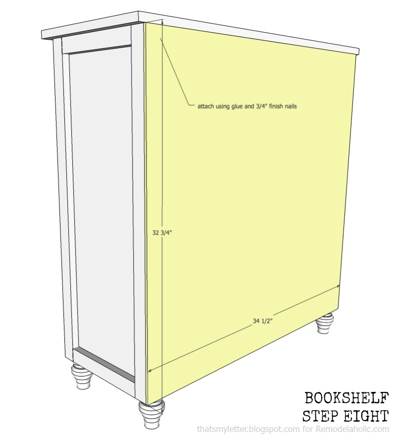 how to build a bookshelf with adjustable shelves, step eight