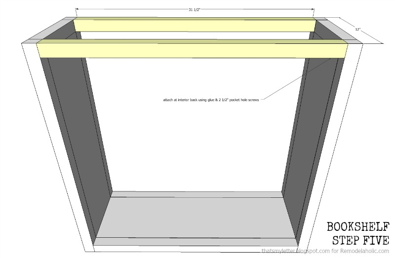 how to build a bookshelf with adjustable shelves, step five