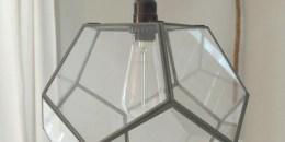upcycled terrarium pendant