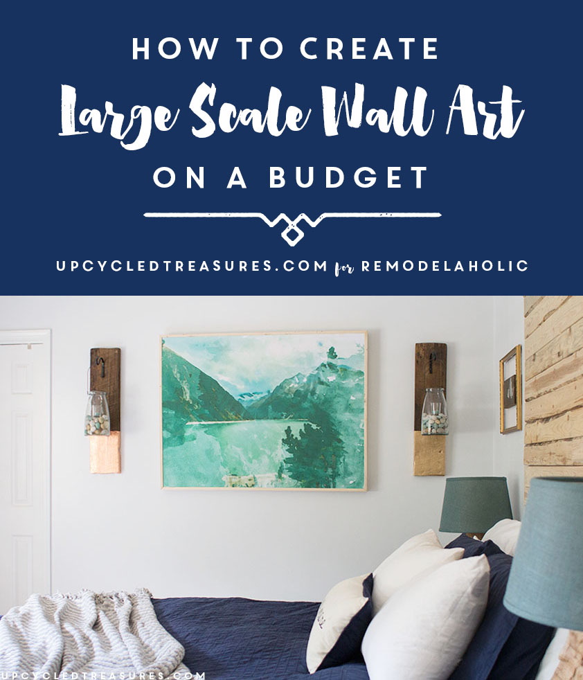 Large DIY Wall Art On a Budget -- this is so easy to do yourself  sc 1 st  Remodelaholic & Remodelaholic | Inexpensive DIY Large Scale Wall Art