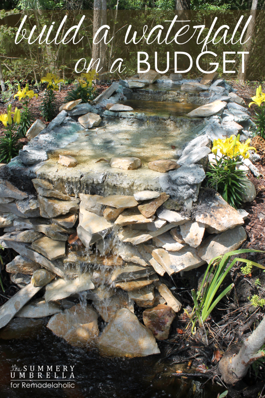 How to build a DIY waterfall on a budget (as in, $300!)