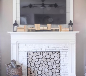 No Mantel?  No Problem!  25+ Ideas for Fireplace Mantel Alternatives
