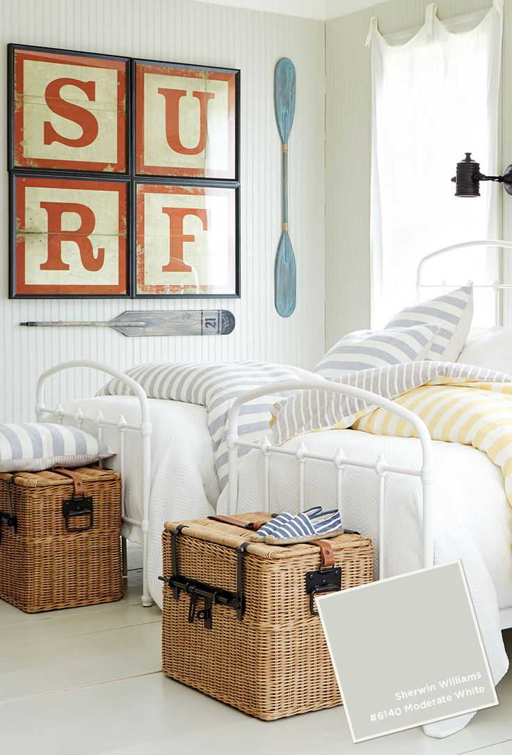 Bright nautical room, teen boy | Found on howtodecorate.com