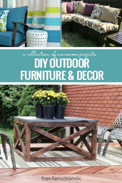 Outdoor Furniture And Decor Ideas For Your Patio Or Deck From Remodelaholic