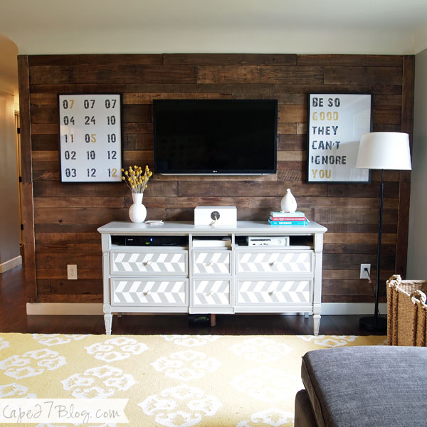 Remodelaholic | 95 Ways to Hide or Decorate Around the TV ...