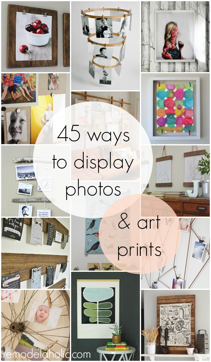 Remodelaholic | 50+ Ways to Display Art Prints and Photos