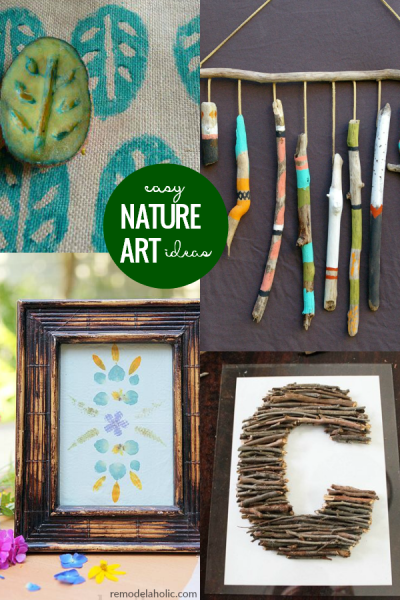 Easy Art Ideas Using Nature DIY Kids Wall Decor Using Natural Materials, Remodelaholic