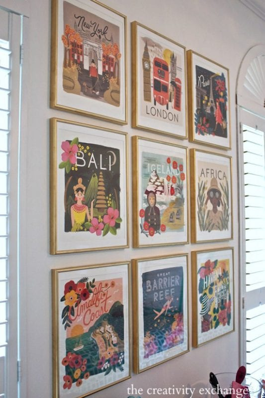 DIY Wall Decor Ideas: Old Calendar Gallery Wall Art