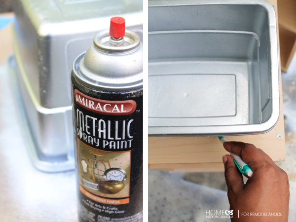 An easy way to make a sink for a play kitchen