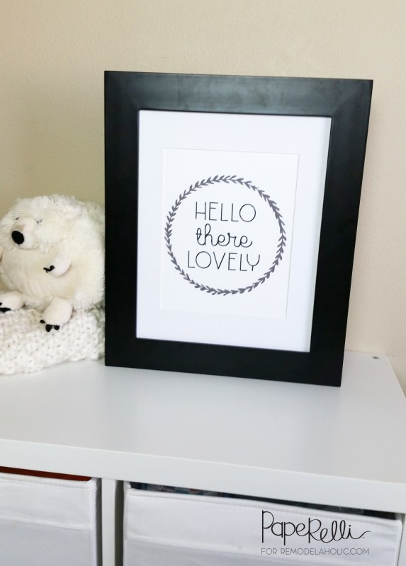 Hello There Lovely Art Print @Remodelaholic