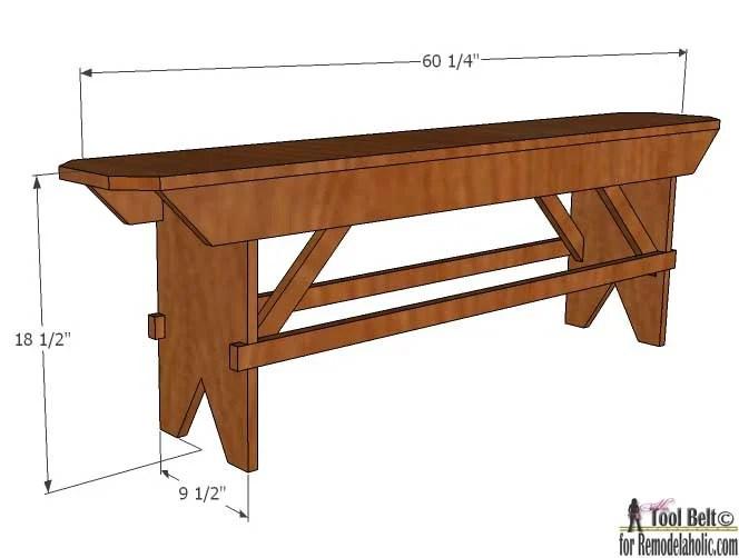 Magnificent Remodelaholic How To Build A Primitive Farmhouse Bench Pabps2019 Chair Design Images Pabps2019Com