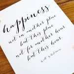 Printable Quote about Happiness
