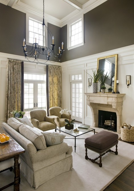 Living Room Decorating Ideas Mirror: 24 Ideas On How To Decorate Tall Walls