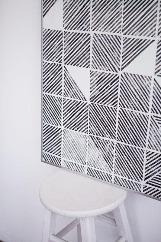 diy modern geometric stamped art (emmadime)