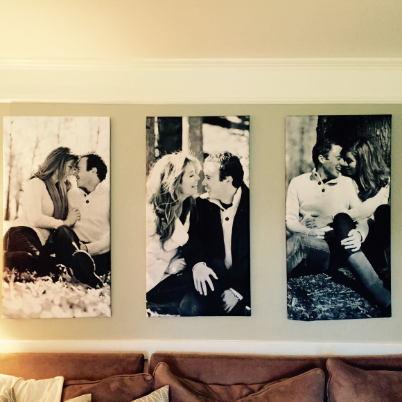diy photo canvases using engineer print and foam insulation board (Trendy Thrifting)