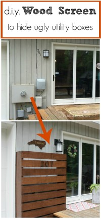 DIY Wood Screen to Hide Utility Boxes | Remodelaholic ...