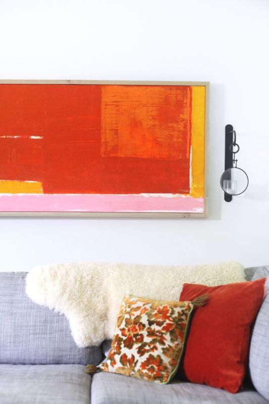 easy abstract art diy (A Beautiful Mess)