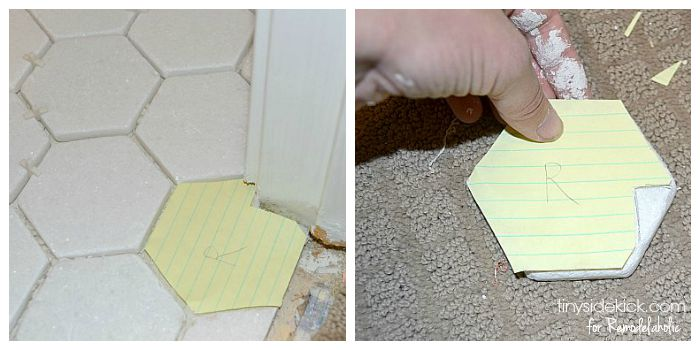 how to cut around edges when tiling