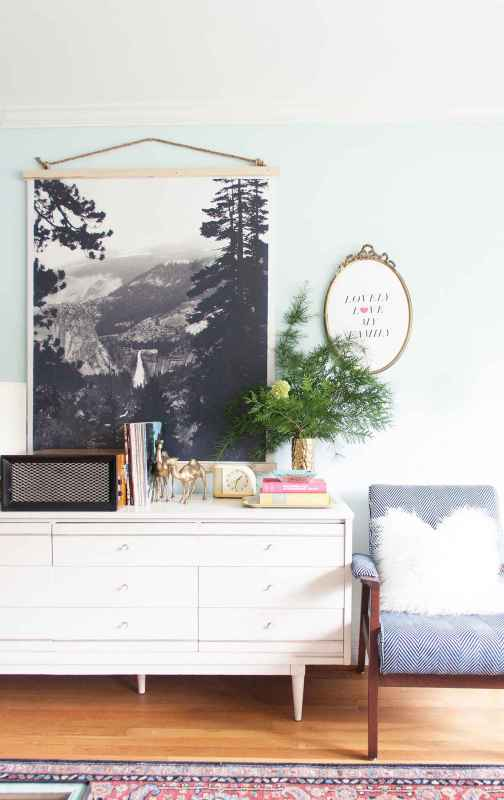 how to hang a large art print (Lay Baby Lay)
